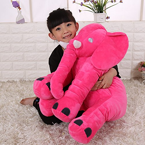 XY Elephant Environmental pillow Cute Animal Elephant Cushion Novelty plush soft toy for decoration gifts for kids plush toys baby appease 100 cotton pink