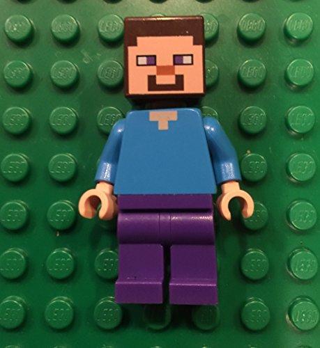 Lego Minecraft Steve minifigure blockhead figure