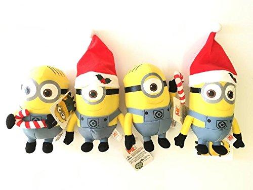 Christmas Edition Minions 65 Plush Set- 2 Pcs