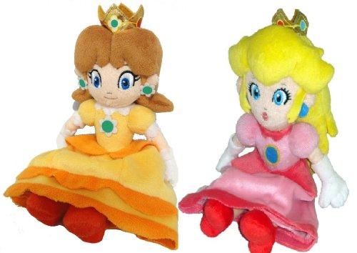 Super Mario Plush -7 Princess Peach Daisy Soft Stuffed Plush Toy Japanese Import