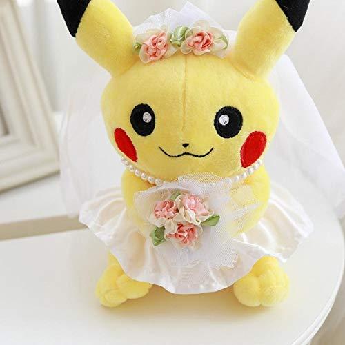RiceStore 1pc 22cm Wedding Pikachu Cute Anime Plush Toys Gift for Lovers Kids Cartoon Peluche Pikachu  Girl