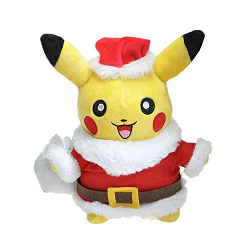 WYMDDYM Christmas Pikachu Plush Toy Dolls Pikachu Cosplay Santa Claus Plush Pillows for Boys and Girls