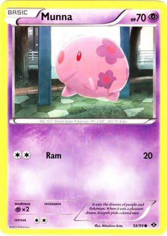 Pokemon - Munna 58 - BW - Next Destinies - Reverse Holo