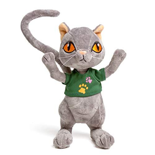 Krisphily Baby Toys Plush Cat 12 Stuffed Animals Plush Kitten Doll Kitty Kids GiftsGray