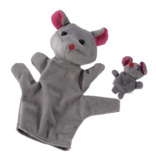 Finger Puppet - TOOGOOR Grey Mouse Hand Puppet Finger Puppets