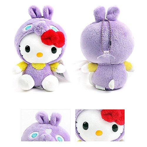 Sanrio Hello Kitty 6 Plush Suction Doll Special Edition  Kitty x Rody - Purple