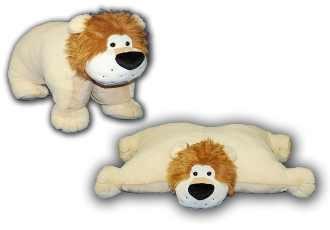 Giant Pillow Chums Lion Bushy Mane 34x22 Golden Brown