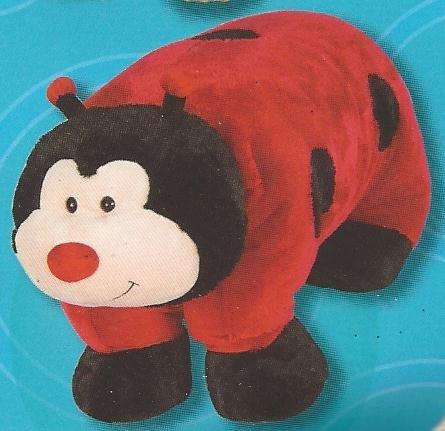 Giant Pillow Chums Plush Lady Bug Pet 41x30 Red Black Soft