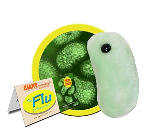 Giant Microbes 5-7 Plush Flu Microbe