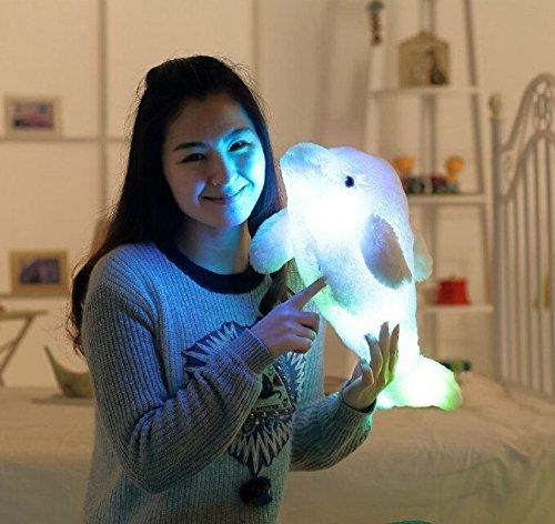 WDA LED Dolphin Pillows Plush Stuffed Toys Animal Figures Blue