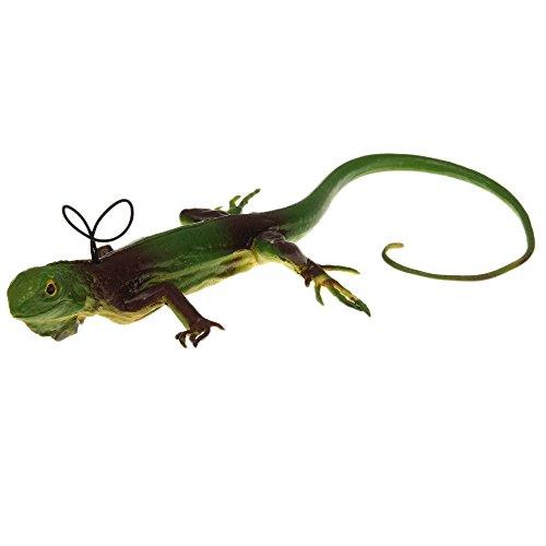 Kasstino 36cm Plastic Animal Toy Reptile Lizard Figure Green Soft Prank Trick Joke Toy