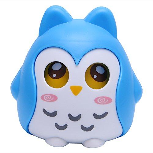 Tangc Cute Plastic Animal Owl Piggy Bank Saving Cash Money Coin Box Kids Child Gift