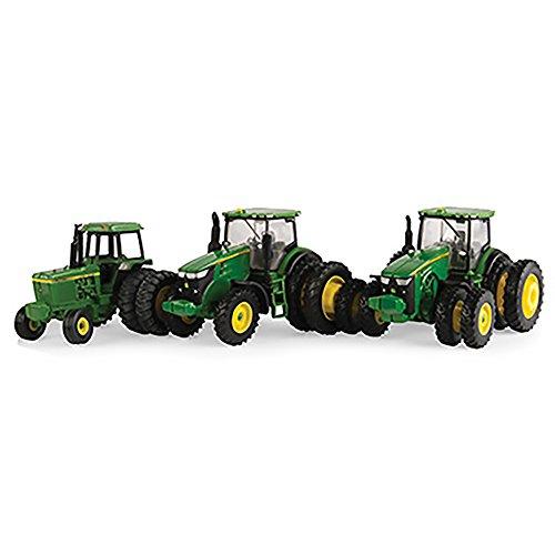 John Deere 164 Scale Tractor Set 3 Pieces