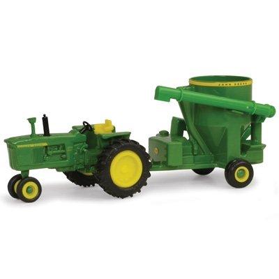 John Deere Ertl 4010 Tractor with Grinder Mixer 164 Scale