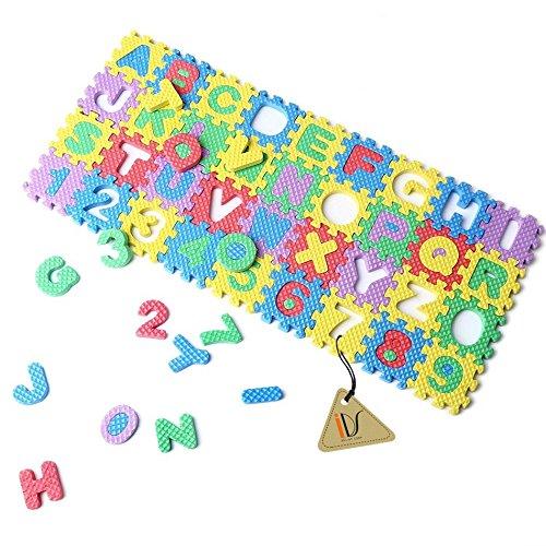 36pcs 0-9 Number A-Z Letters Puzzle Mat Alphabet Puzzle Foam for Toddlers Kids Toys