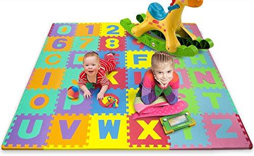 Matney Kids Foam Floor Alphabet and Number Puzzle Mat Multicolor 36 Piece