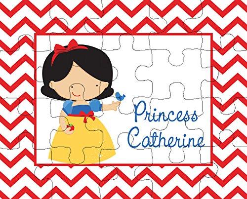 Chevron Snow Princess 20-Piece Personalized Puzzle