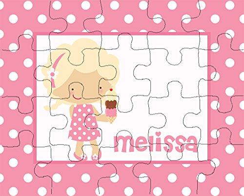 Ice Cream Girl 20-Piece Personalized Puzzle