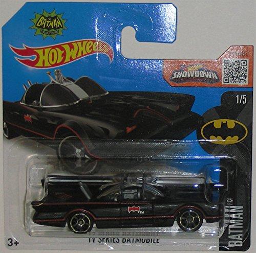 TV SERIES BATMOBILE Hot Wheels 2016 batman Series Flat Black 1966 Batmobile 164 Scale Collectible Die Cast Metal Toy Car Model 15 on International Short Card