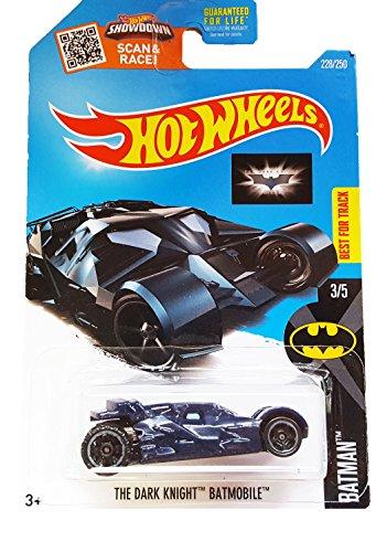 Hot Wheels - 228250 Batman 35 - The Dark Knight Batmobile Blue with Black Wheels on Scan and Race Card