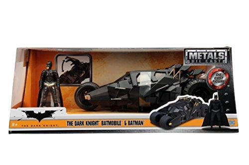 JADA METALS 124 WB - BATMAN DARK KNIGHT BATMOBILE WITH BATMAN 98261