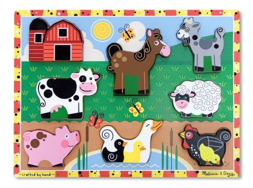 Melissa Doug Farm Wooden Chunky Puzzle 8 pcs