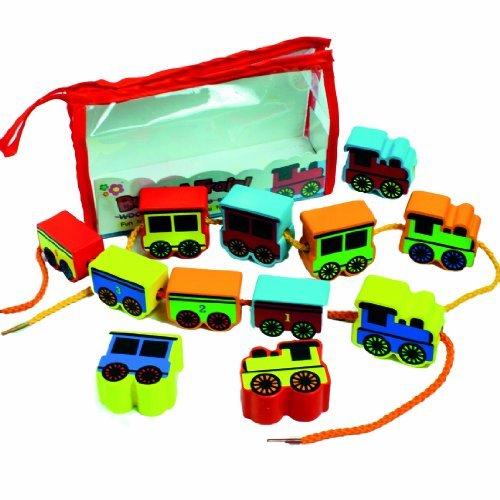 Meadow Kids MEA-MK151 Build A Train Threading Beads by Meadow Kids