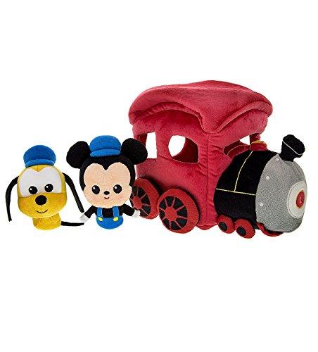 Disney Parks Mickey Mouse Pluto Plush Train Playset Play Set