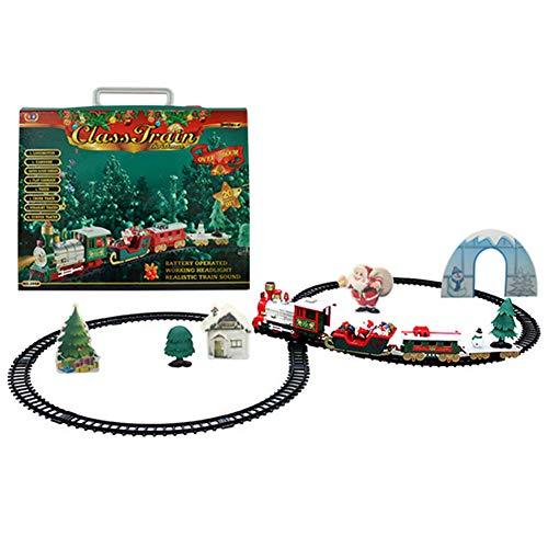 HEgh DIY Christmas Railway Train Play Set Educational Kids Toy Gift for Birthday Christmas