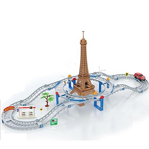 DIY Dream Tower Track Racer Racing Car Toy Set60pcs