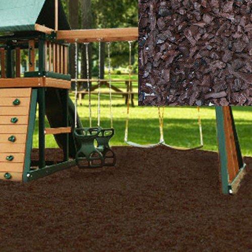 KIDWISE Swing Set Playground Rubber Mulch 75 CuFt Pallet-Chocolate Brown
