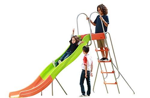 SLIDEWHIZZER Outdoor Play Set Kids Slide 10 ft Freestanding Climber Swingsets Playground Jungle Gyms Kids Love - Above Ground Pool Slide for Summer Backyard