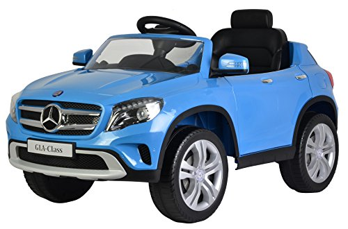 Mercedes GLA 12V Kids Ride On Battery Powered Wheels Car  RC Remote  Working AC - SPORTY BLUE- Brought to you by BEST RIDE ON CARS  SMART DEALS NOW