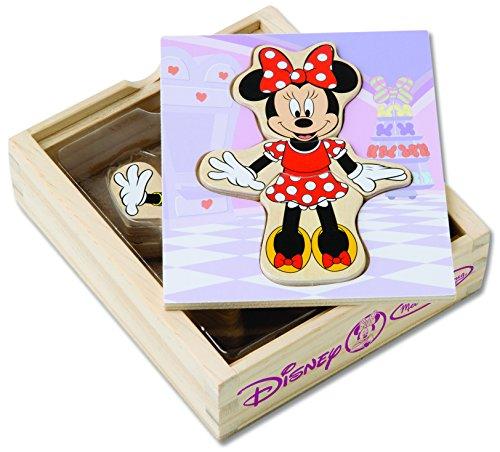 Melissa Doug Disney Minnie Mouse Mix and Match Dress-Up Wooden Play Set 18 pcs