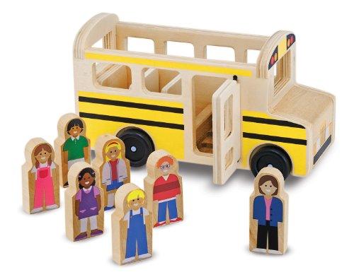 Melissa Doug School Bus Wooden Play Set With 7 Play Figures