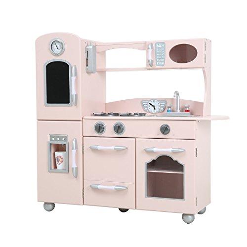 Wooden Play Kitchen Set Kids Play Kitchen Set Pink