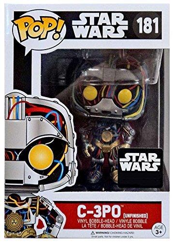 C-3PO Funko POP Vinyl Bobble Head Unfinished Figurine 181 Star Wars Exclusive In Original Box