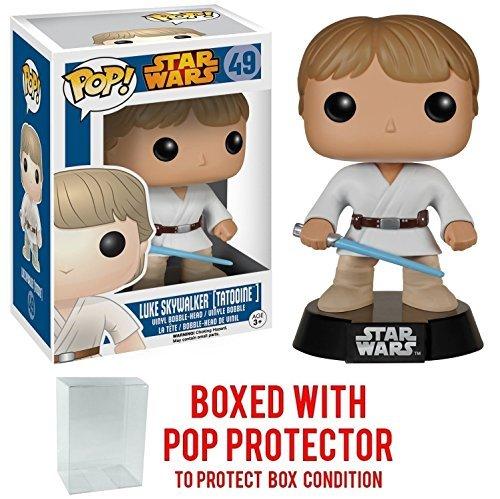 Star Wars Classic Luke Skywalker Tatooine Funko Pop Vinyl Bobble-Head Figure Includes Compatible Pop Box Protector Case