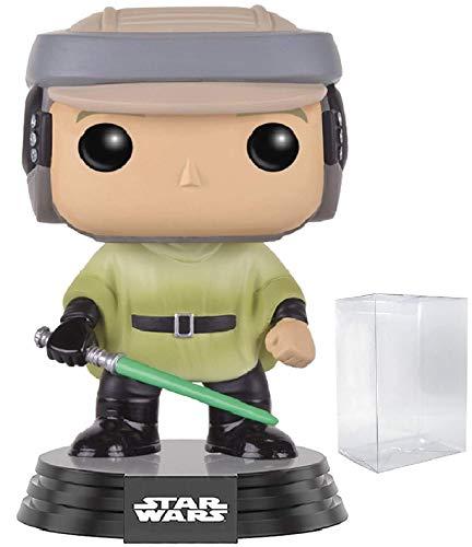 Star Wars Return of The Jedi - Endor Luke Skywalker Funko Pop Vinyl Bobble-Head Figure Includes Compatible Pop Box Protector Case