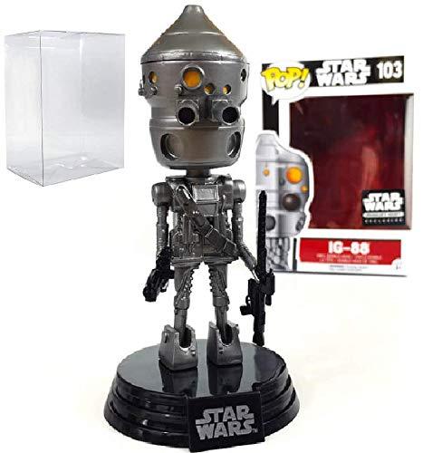 Star Wars Smugglers Bounty - IG-88 Funko Pop Vinyl Bobble-Head Figure Includes Compatible Pop Box Protector Case