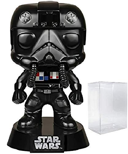 Star Wars Tie Fighter Pilot Funko Pop Vinyl Bobble-Head Figure Includes Compatible Pop Box Protector Case