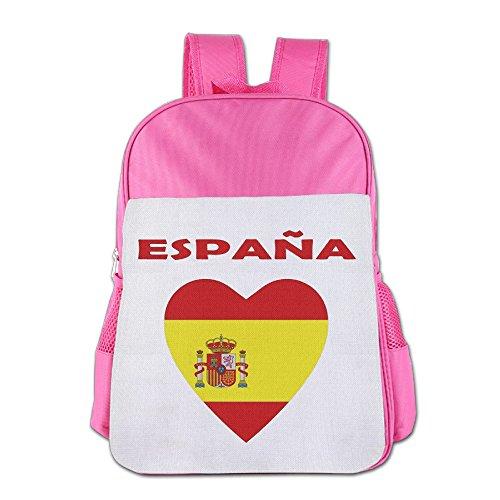 BoysGirls Love Spain Espana Flag Country ChildrenStudents School Backpack