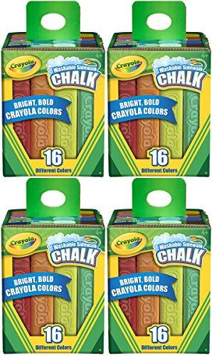 Crayola Washable Sidewalk Chalk 16 Count Pack of 4 Total 64 Sticks
