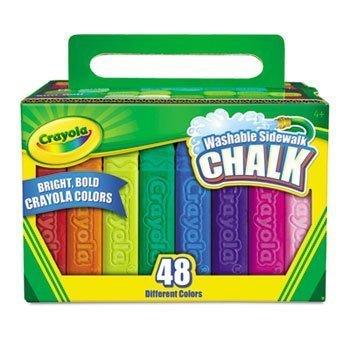 Crayola Washable Sidewalk Chalk 48 Assorted Bright Colors