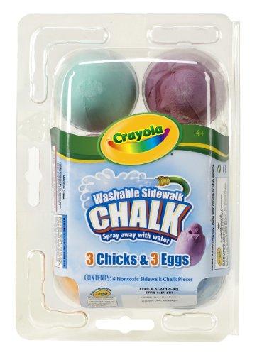 Crayola Washable Sidewalk Chalk 6ct - 3 Eggs and 3 Chicks