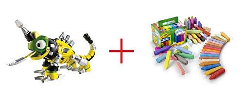 Dinotrux Revvit and Crayola Washable Sidewalk Chalk - 48 Count - Bundle