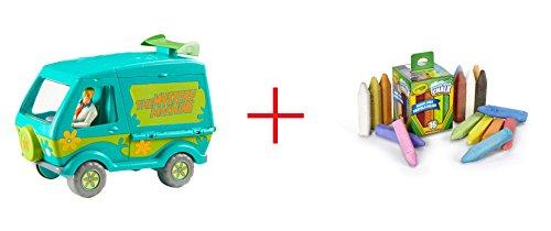 Scooby-Doo Mystery Machine Playset and Crayola Washable Sidewalk Chalk - 16 Count - Bundle
