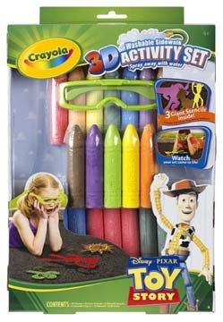 Crayola Toy Story 3 3D Washable Sidewalk Activity Set New