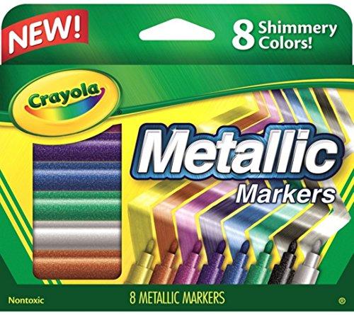 CRAYOLA LLC CRAYOLA METALLIC MARKERS 8 COLORS Set of 3