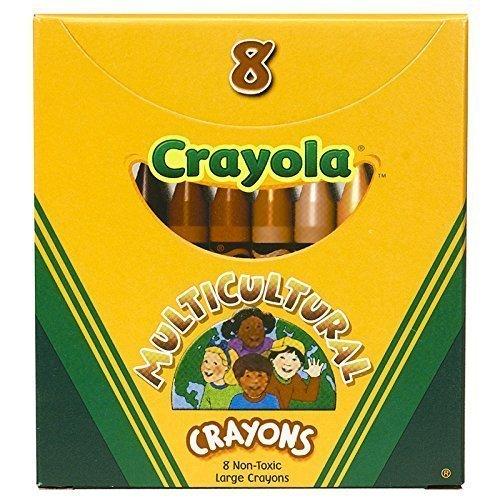 CRAYOLA LLC MULTICULTURAL CRAYONS LARGE 8PK Set of 12